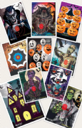 Egertec Novelty Target Faces - Pack of 10 - Fun, Halloween & Christmas